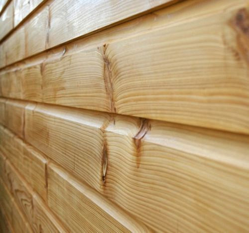 150mm x 15mm Thick Treated Wooden Shiplap Cladding Boards - L: 2.4m - pack of 10